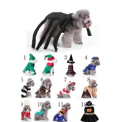 Pet Dog Cat Halloween Christmas Costume Cosplay Fancy Dress Up Clothes Outfits