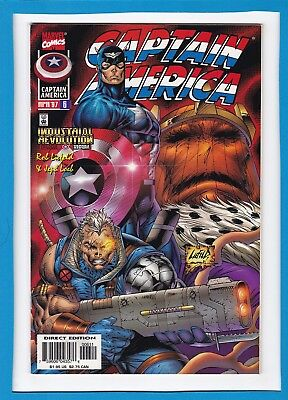 Captain America #6_April 1997_Very Fine/near Mint_Cable_Baron Zemo_Rob Liefield!