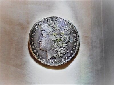 1890-Cc Morgan Dollar Key Date No Reserve Vg To F Please Look !