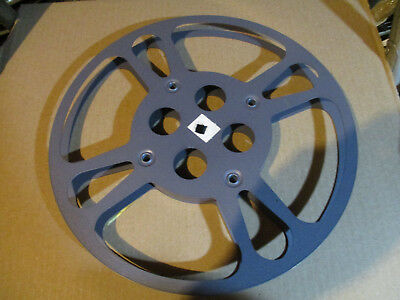 16mm 800 Ft Metal Film Reel /1950's Blue Purple  Goldberg  /10  Inches Across