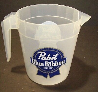 Lot of 3 Pabst Blue Ribbon Plastic Beer Pitchers NOS PBR