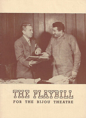 """Jack Pearl """"ALL FOR ALL"""" Harry Green / Loring Smith 1943 Opening Night Playbill"""