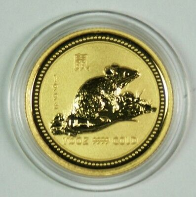 1996 $15 Australia 1/10 Oz. Gold Lunar Year of the Rat Commemorative Coin