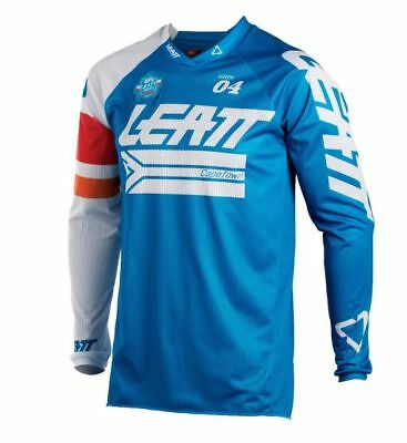 2018 Leatt Adult GPX 4.5 X-Flow Jersey Blue / White MX ATV Enduro Off Road Moto