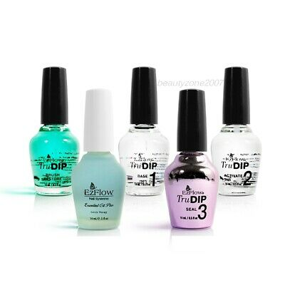 EzFlow TruDIP - 3-Step Acrylic Dip System Top Base Activate 0.5oz*Chose any one*