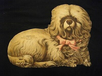 Victorian J.J.BAMBURG & CO. PRINCETON, ILL large advertisment trade card DOG