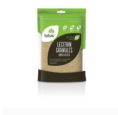 6 x 200g LOTUS Lecithin Granules Unbleached ( total 1.2kg ) GMO Free