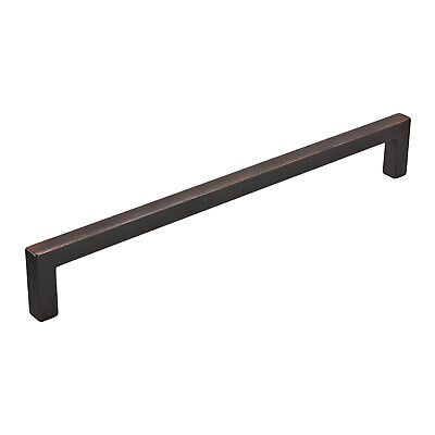 "10x MODERN STYLE 8-13/16"" CENTER BRUSHED OIL RUBBED BRONZE CABINET PULL HANDLE"
