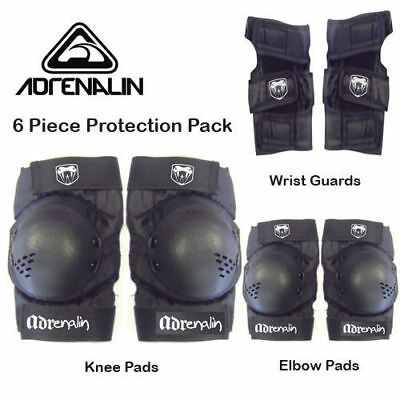 Adrenalin Skate Protection Pads Size SMALL 6 Piece Set Elbows Knee Wrist Guards