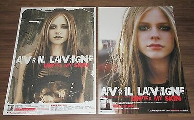 Set of 2 x DIFFERENT rare AVRIL LAVIGNE Japan PROMO ONLY release & tour POSTER!