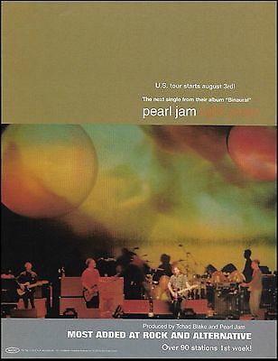 Pearl Jam Binaural 2000 Light Years Single ad 8 x 11 advertisement print