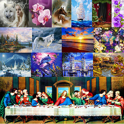 5D Diamond DIY Painting Scenery Animal  Embroidery Cross Stitch Craft Home Decor