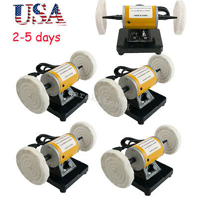 5sets USA Mini Polisher Grinder Polishing Machine Dental Lathe Bench Buffing FDA