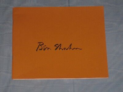 1967-68 Ben Shahn Art Exhibition Catalog Book Paintings And Graphics
