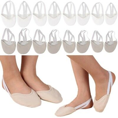 Faux Leather Sole Ballet Pointe Half Dance Shoes Rhythmic Gymnastics Slippers