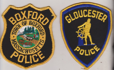 Gloucester & Boxford MASS Police patches