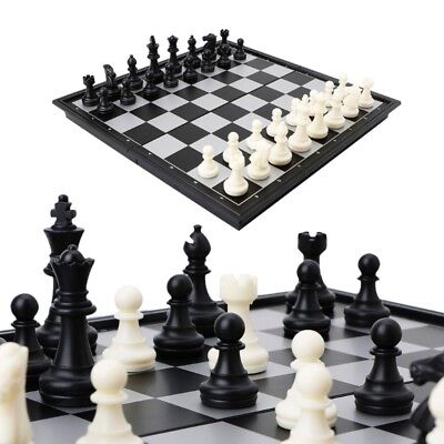 Folding Board Box Portable Travel Magnetic Tournament Chess Set Gift Kids Toys