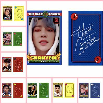 Kpop EXO The Power of Music Self-made Cards KAI CHEN Photo Card Chanyeol DO 8pcs