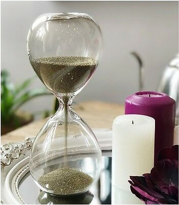European style 1 Minutes Glass Originality Hourglass Timer Home Decoration *