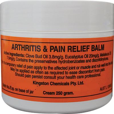 ARTHRITIS & PAIN RELIEF BALM 250g CREAM LARGE TUB HERBAL *100% AUSTRALIAN MADE*