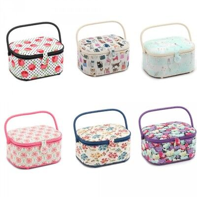 Hobby Gift Oval Sewing Box Craft Sewing Basket Storage Knitting