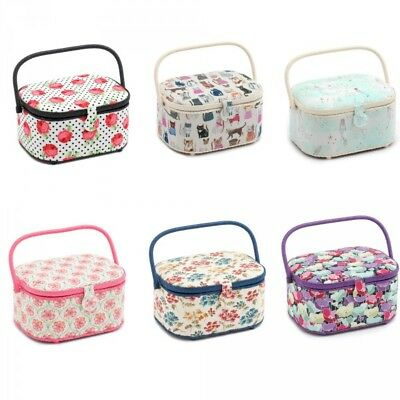 Hobbygift Oval Sewing Box Craft Sewing Basket