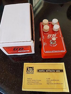 USA Xotic BB Preamp Orange Sparkle Limited Edition Overdrive distortion pedal