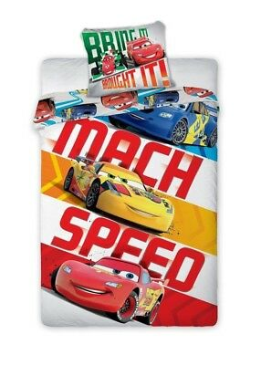 COPRIPIUMINO Set Letto CARS MACH SPEED Saetta McQueen DISNEY ORIGINAL Bed Cover