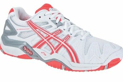 Womens asics Gel Resolution 5 Tennis Court Shoes Trainers Size UK 9  Euro 43.5