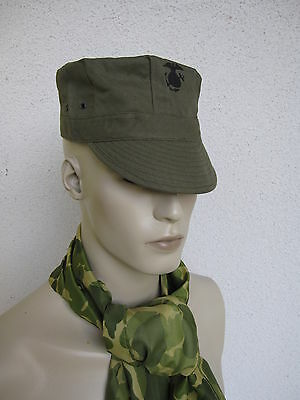 US Army USMC Marine Corps Green HBT Utility Cap WK2 WWII Gr 57 Marines Pacific