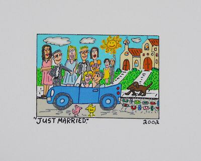 James Rizzi - Just Married - Farblithografie