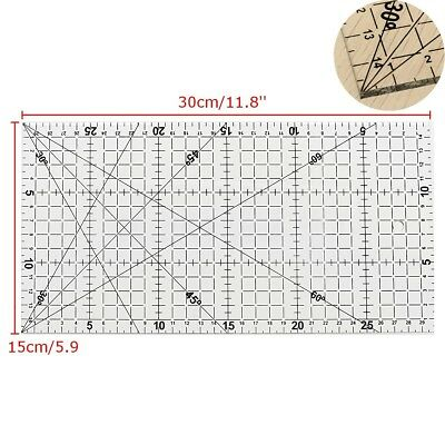 30x15cm Quilting Sewing Patchwork Foot Aligned Ruler Grid Tailor Craft Scale