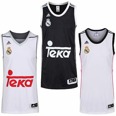 adidas REAL MADRID BASKETBALL JERSEYS TOP MEN'S S M L 4XL SPAIN VEST SHIRT