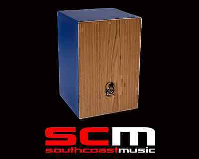TOCTCCJBL Toca Cajon Blue ColourSound hand percussion