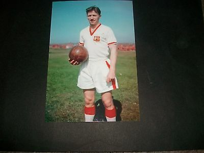 """MANCHESTER UNITED 1957  ROGER BYRNE FA CUP FINAL KIT   6""""x4""""  Photo REPRINT"""