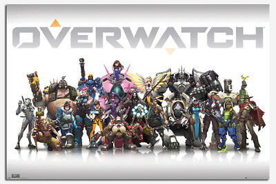 Overwatch Characters Poster New - Maxi Size 36 x 24 Inch