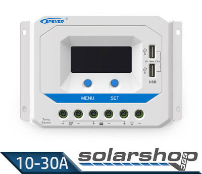 PWM Laderegler EPEVER 12V/24V 10A, 20A, 30A - VS AU Solar charge controller 365