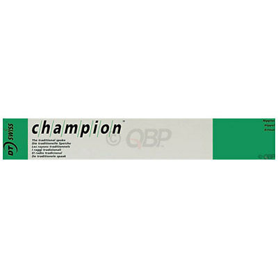DT Swiss Champion 2.0 192mm Silver Spokes Box of 100