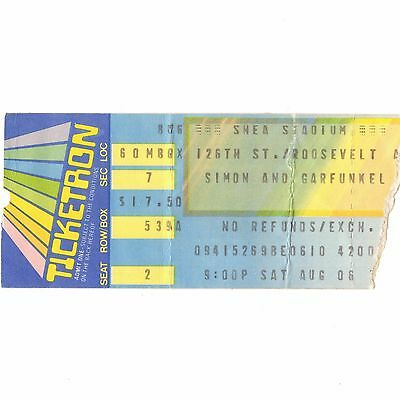 SIMON & GARFUNKEL Concert Ticket Stub NEW YORK NY 8/6/83 SHEA STADIUM CECILIA