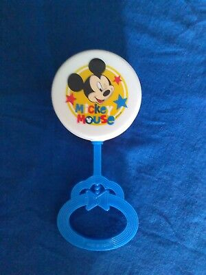 Collectible Disney Mickey mouse baby rattle in perfect condition.