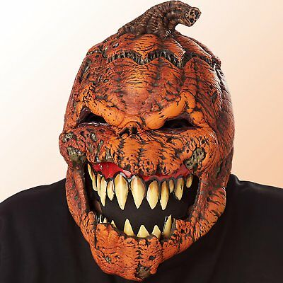 Adult Halloween Pumpkin Motion Mask Scary Horror Costume Party Accessory