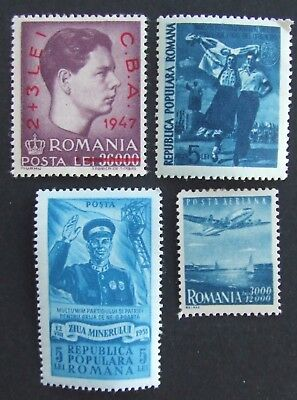 4 mint Romania stamps
