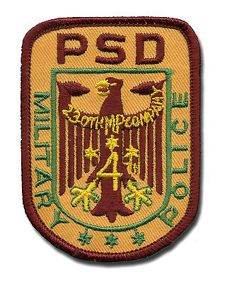 Patch - PSD 230th MP Company - West Germany - Military Police  L382