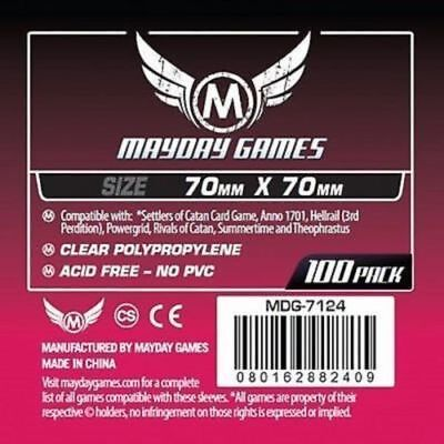 100 Bustine Protettive Sleeves Mayday Games 70x70 mm Buste Giochi Tavolo