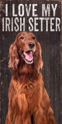 Irish Setter Sign – I Love My 5×10