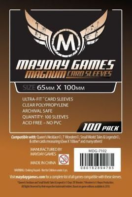 100 Bustine Protettive Sleeves Mayday Games 65x100 Buste Giochi Tavolo 7 WONDERS