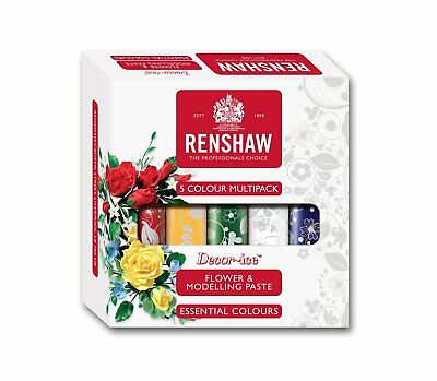Renshaw FLOWER & MODELLLING PASTE Ready To Roll Icing Multi 5X100 g BBE SEP 2017