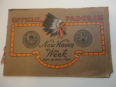 1912 1st Annual NEW HAVEN WEEK Official Program CT