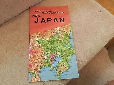 Nihon Kenkyusha Sightseeing & travel guide map of NEW JAPAN