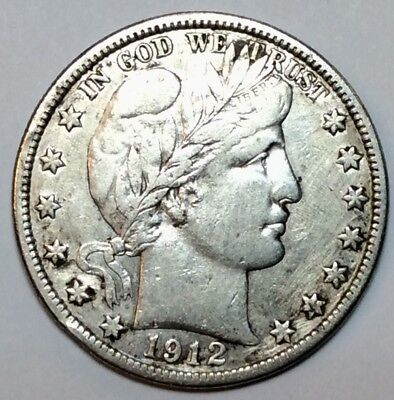 1912 D Barber Half Dollar - FULL LIBERTY - No Reserve